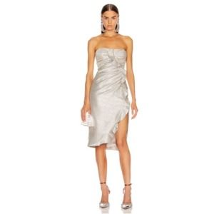 Jonathan Simkhai Plisse Lame Ruffle Dress 2
